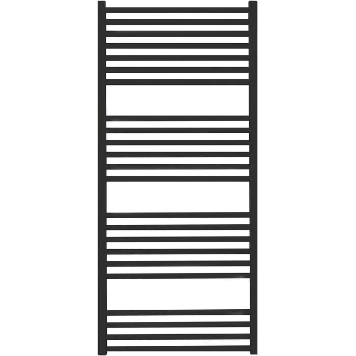 Saqu Magma handdoekradiator 131x60cm 696W Zwart