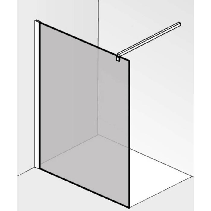 Saqu miralo Montageset voor glaswand met stabilisatiesteun met bevestiging Chroom