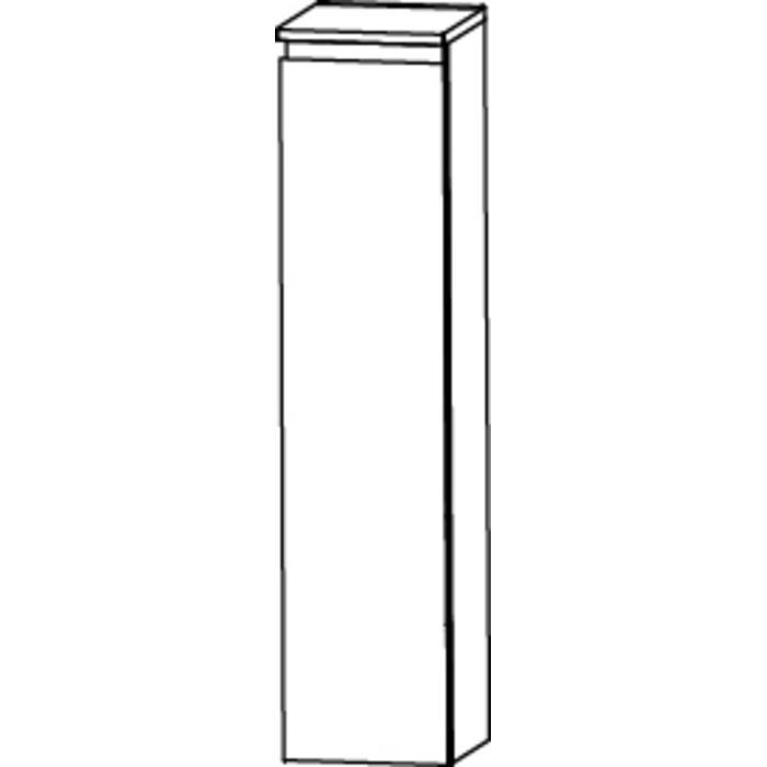 Saqu Pekka 3 Midikast links 30x32,5x113,6 cm Hoogglans wit/hoogglans wit