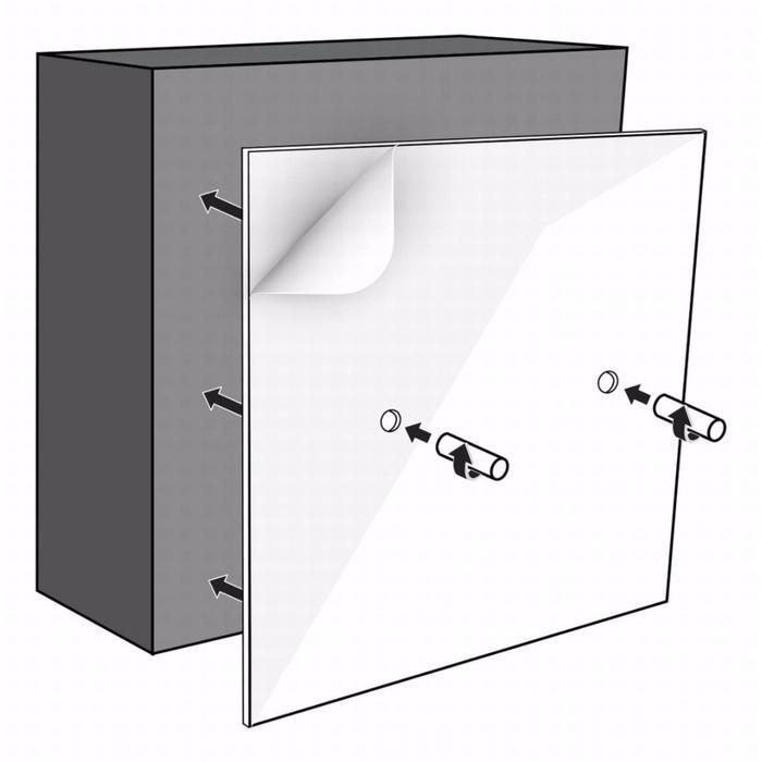 Looox BoX montageset opbouw voor colourbox 30x30 cm