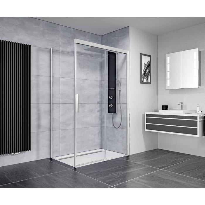 Ben IMotion douchecabine rechts schuivend 140x90x206 cm chroom/helder glas
