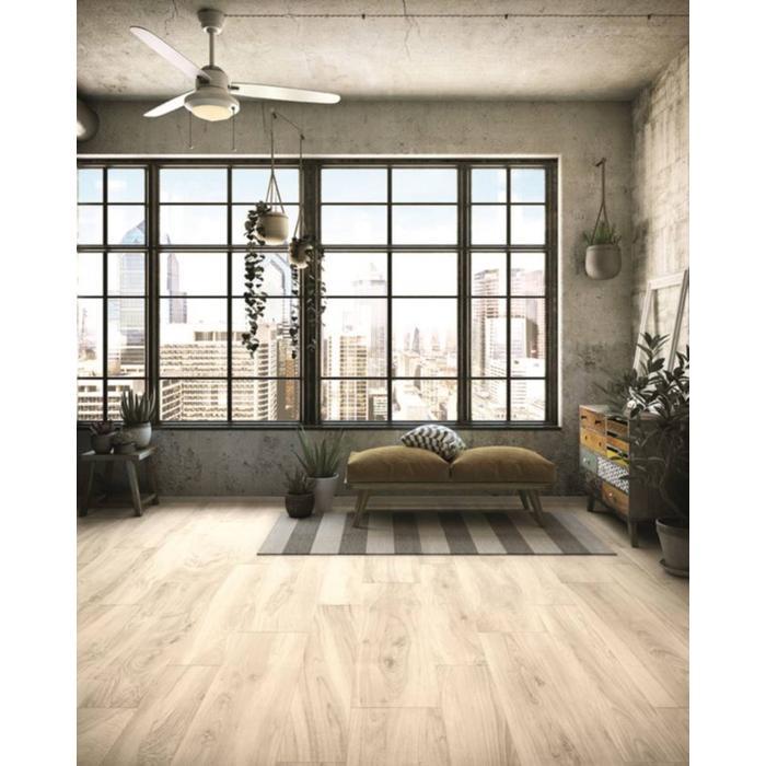 Vloertegel Castelvetro More 120x20x1 cm Wit 1,44M2