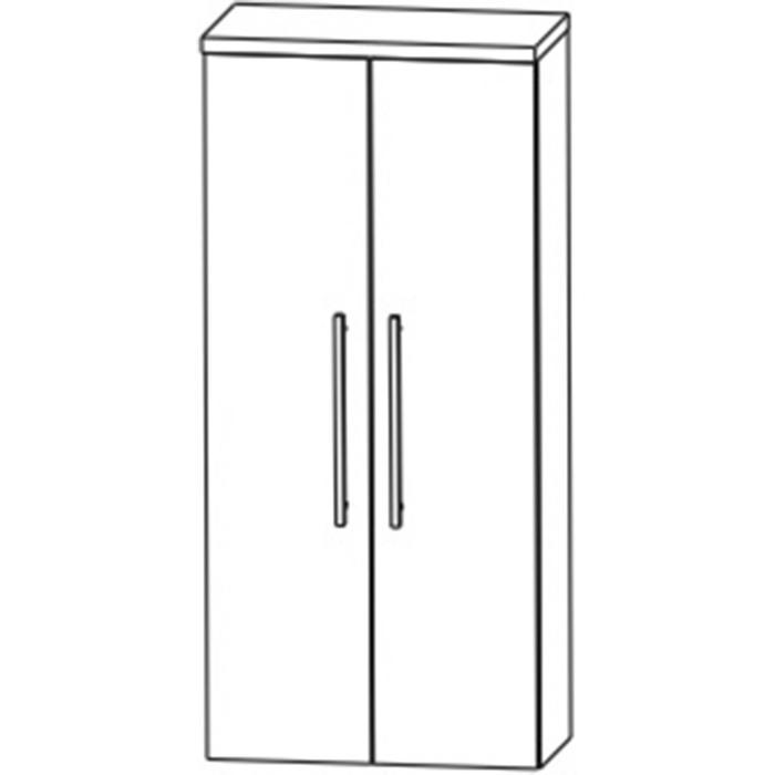 Saqu Pekka Midikast 60x32,5x129,6 cm Hoogglans wit/ hoogglans wit