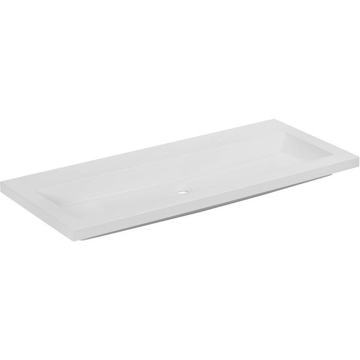 Straight wastafel zonder kraangat 120x51cm wit