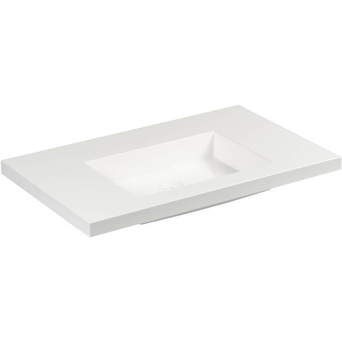 Straight wastafel zonder kraangat 80x51cm wit