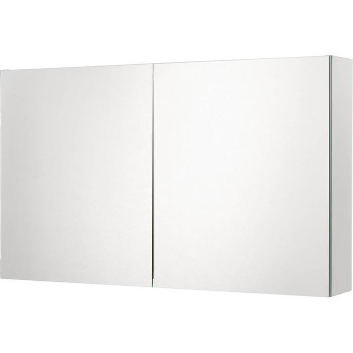 Ben Prestige Spiegelkast 100 cm met 2 Deuren en Opbouwlamp
