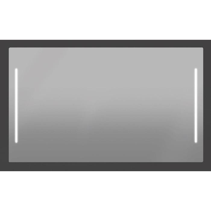Thebalux Padova TL spiegel met spiegelverwarming 140x75x3,5 cm Alu frame