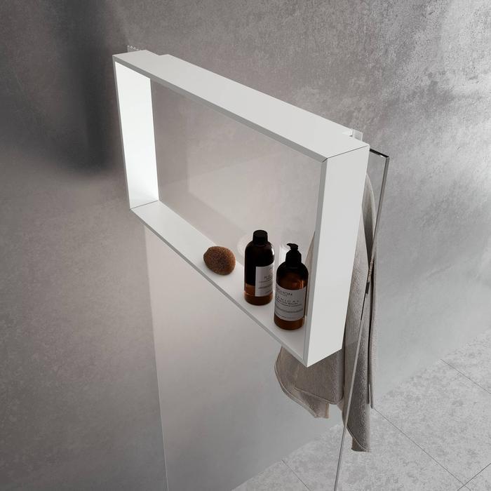 Novellini Frame Hangend Planchet 70x8,5x40 cm Mat Wit