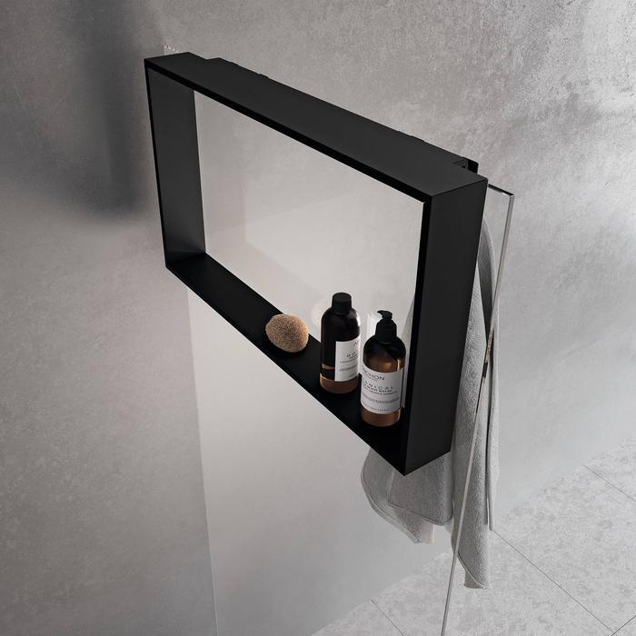 Novellini Frame Hangend Planchet 70x8,5x40 cm Mat Zwart