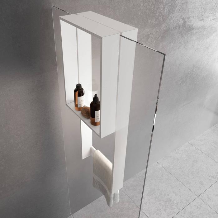 Novellini Frame Hangend Planchet 35x17,8x90 cm Mat Wit