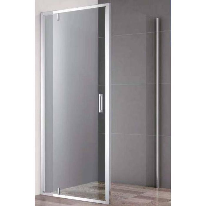 Saqu Rambla Douchedeur met Zijwand 90x90x200 cm Helder Glas/Aluminium