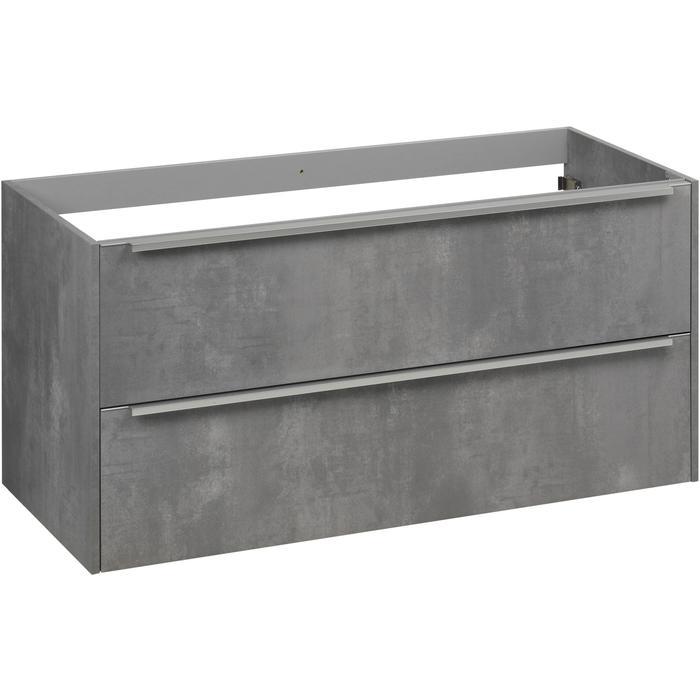 Saqu Salto onderkast chromen greep 120x50,5 cm Beton grijs
