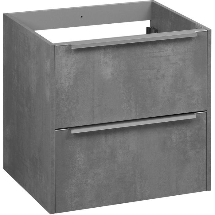 Saqu Salto onderkast chromen greep 60x50,5 cm Beton grijs