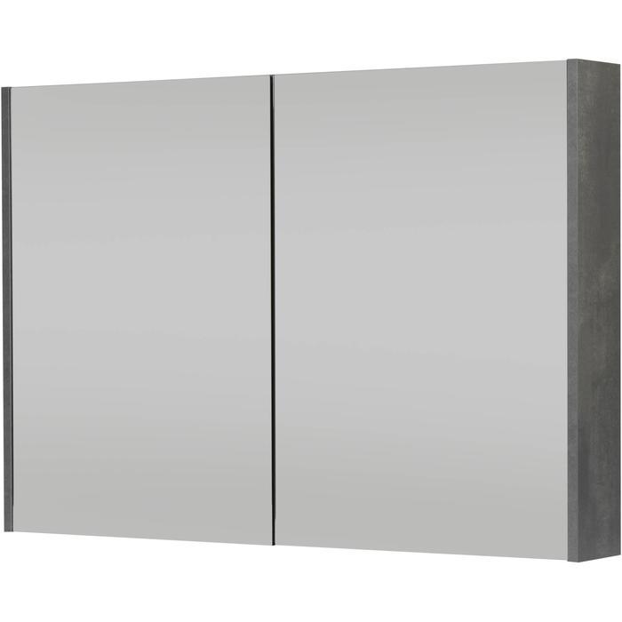 Saqu Salto Spiegelkast 100x70 cm Beton Grijs