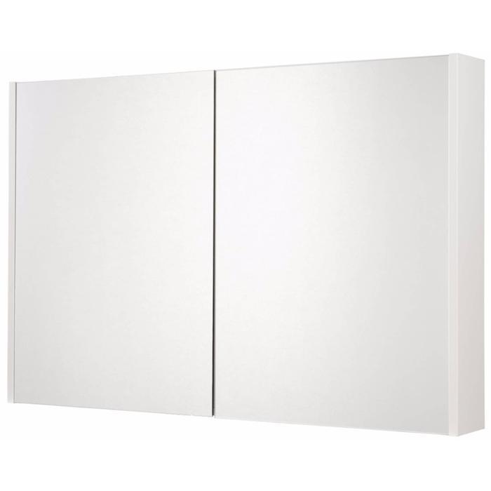 Saqu Salto Spiegelkast 2 deuren 100cm Glanzend wit