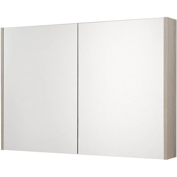 Saqu Salto Spiegelkast 2 deuren 100cm Litho Grijs