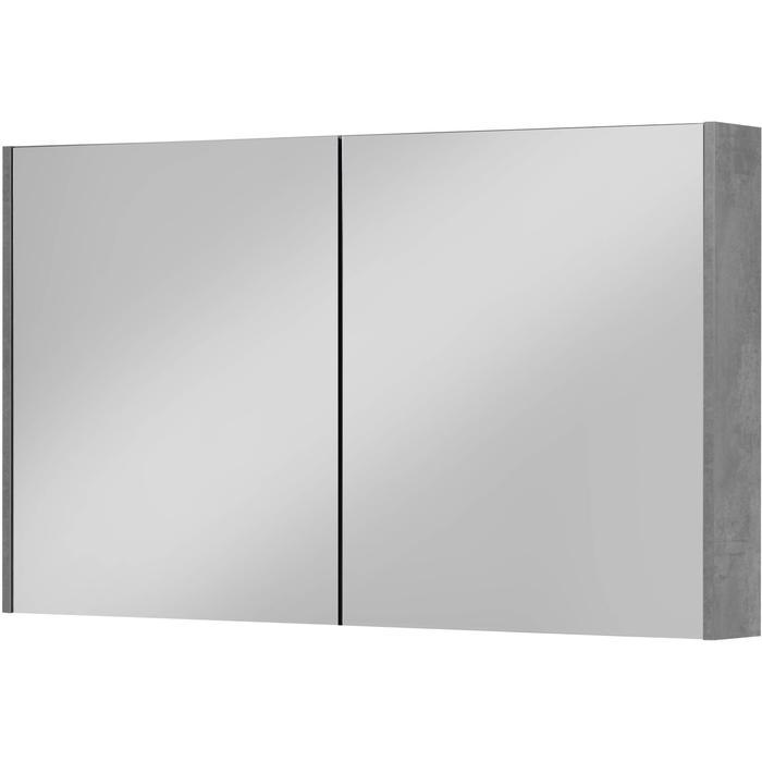 Saqu Salto Spiegelkast 120x70 cm Beton Grijs