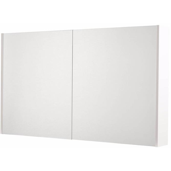 Saqu Salto Spiegelkast 2 deuren 120cm Glanzend wit