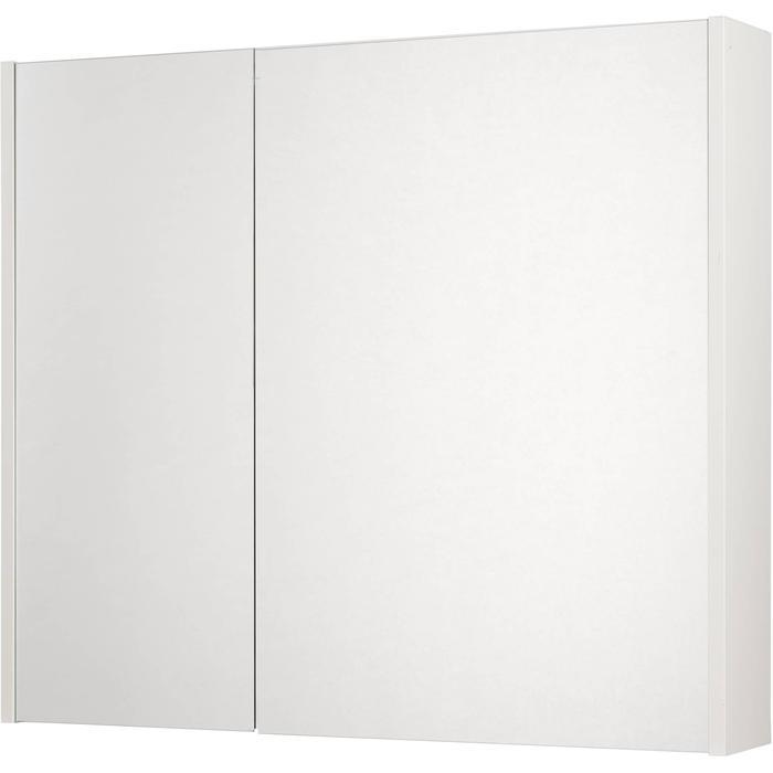 Saqu Salto Spiegelkast 2 deuren 80cm Glanzend wit