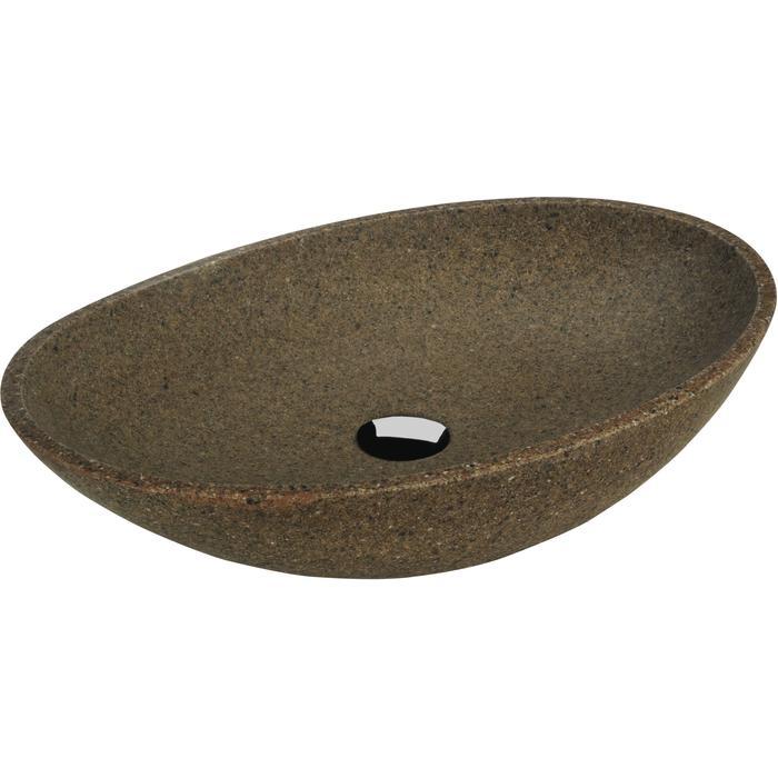 Ben SCALE Wastafel 63x42x15 cm Graniet