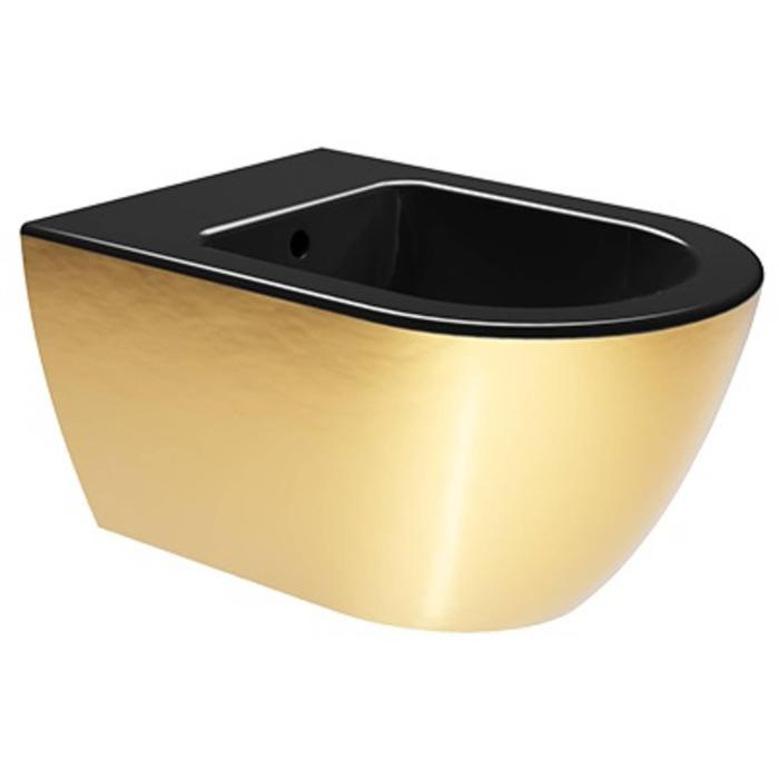 Ben Segno Wandbidet Xtra Glaze 36x55x28 cm Glans Zwart-Goud