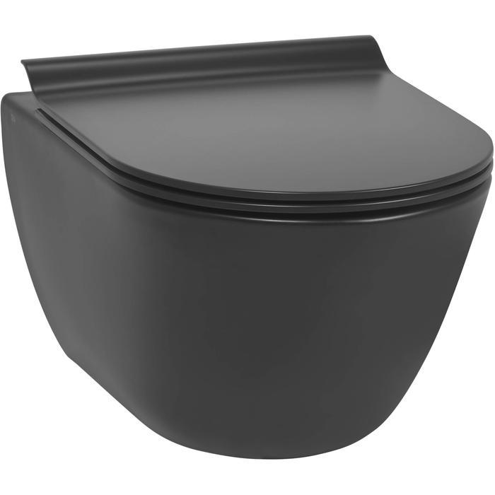 Ben Segno hangtoilet compact Xtra glaze+ Free flush mat zwart