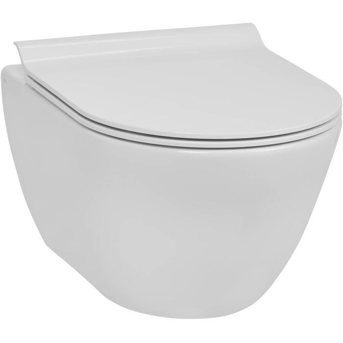 Ben Segno hangtoilet met toiletbril slimseat compact Xtra glaze+ Free flush wit