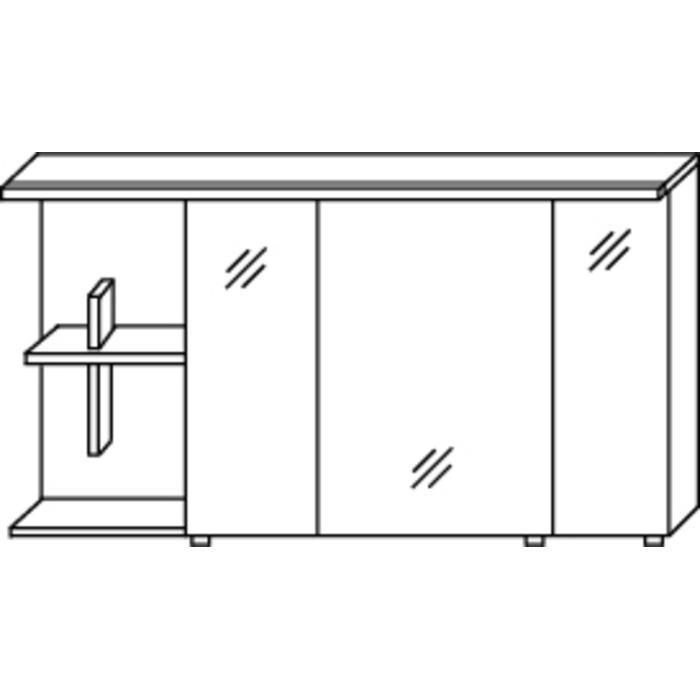 Saqu Pekka 3 Spiegelkast Set links 120x30x65,6 cm Eiken Charleston