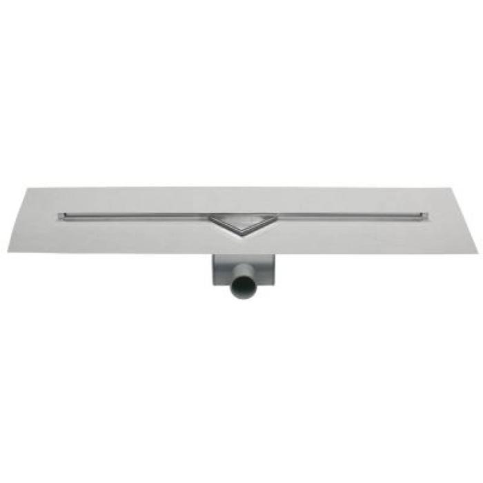 Easydrain S-line douchegoot 90 cm RVS-look