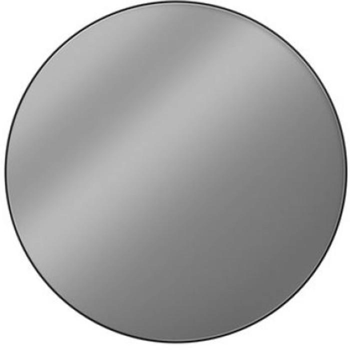 Looox Black Line Round Spiegel Ø 100 cm Mat Zwart