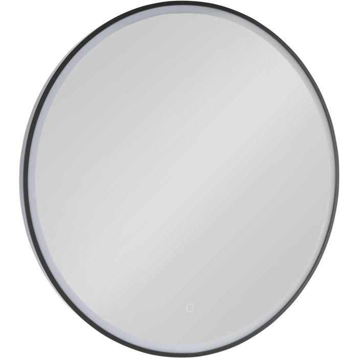 Welp Ben Circulo Ronde Spiegel LED-verlichting 80cm mat zwart - Saniweb.be ZE-11