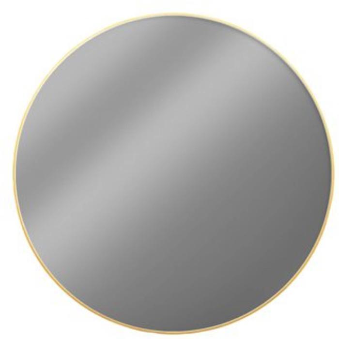 Looox Gold Line Round Ronde spiegel Ø 60 cm Mat Goud