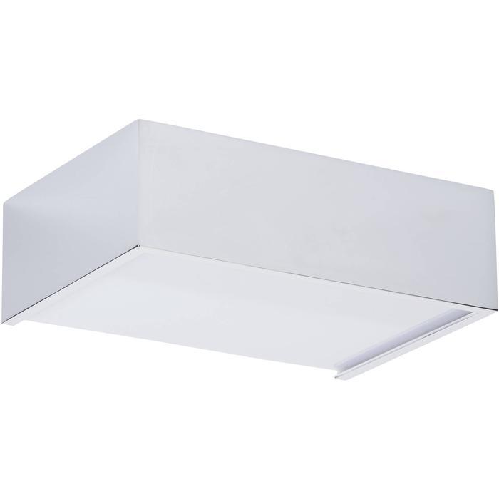 Ben Square design LED wandlamp 15 cm Chroom