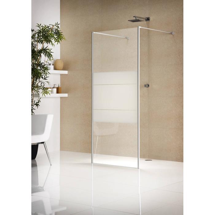 Sealskin Duka Multi-W inloop type E2 110(B)x200(H) cm zilver hoogglans grijs glas