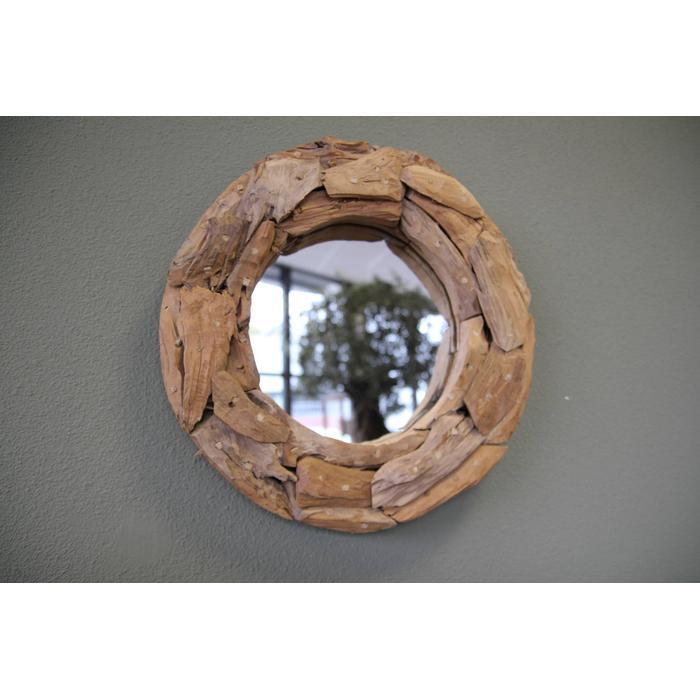 Teak & Living spiegel sprokkel rond 40 cm