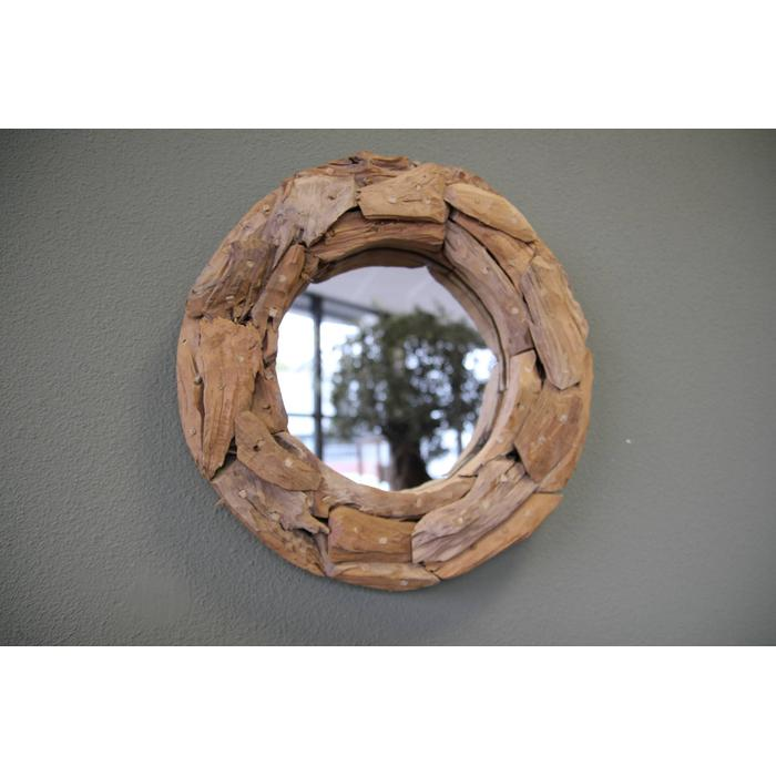 Teak & Living spiegel sprokkel rond 45 cm