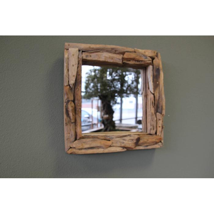 Teak & Living sprokkel spiegel vierkant 45 cm