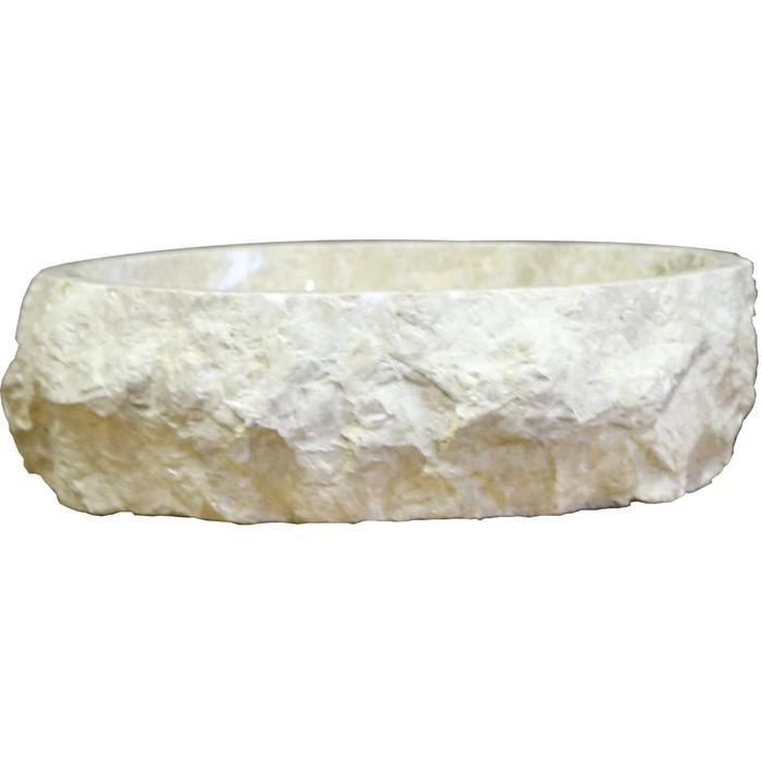 Teak & Living Opbouwkom Trog 130-140x14-16 cm Crème