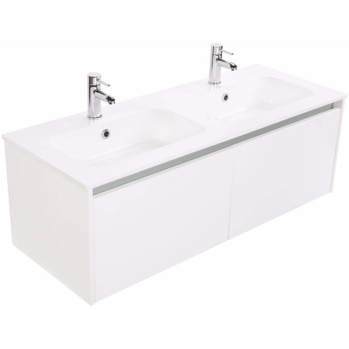 Ben Treviso meubelset 120cm laag 2 lades glans wit mineraal glans