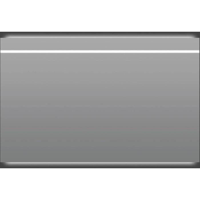 Thebalux Thin Line LED spiegel met verwarming 140x75x4 cm Alu frame