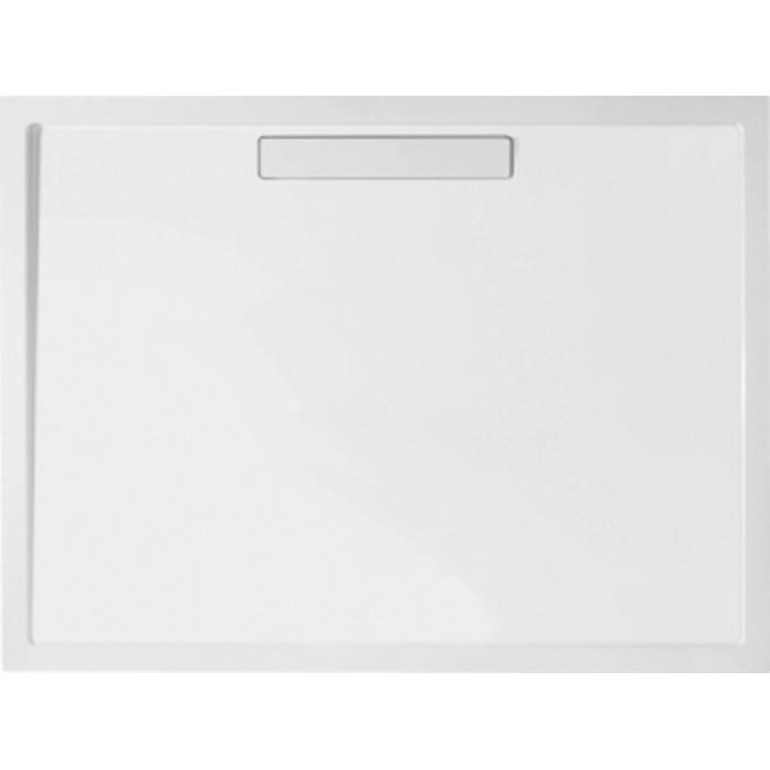 Villeroy & Boch Squaro douchebak 120x90x1,8cm. m/afvoer en ondersteuning Wit