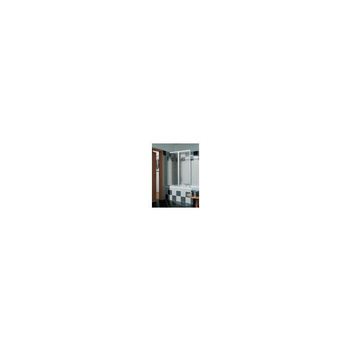 Kermi Vario badklapwand 2-delig 115 cm. parelglas Matzilver-Kunststof Glas