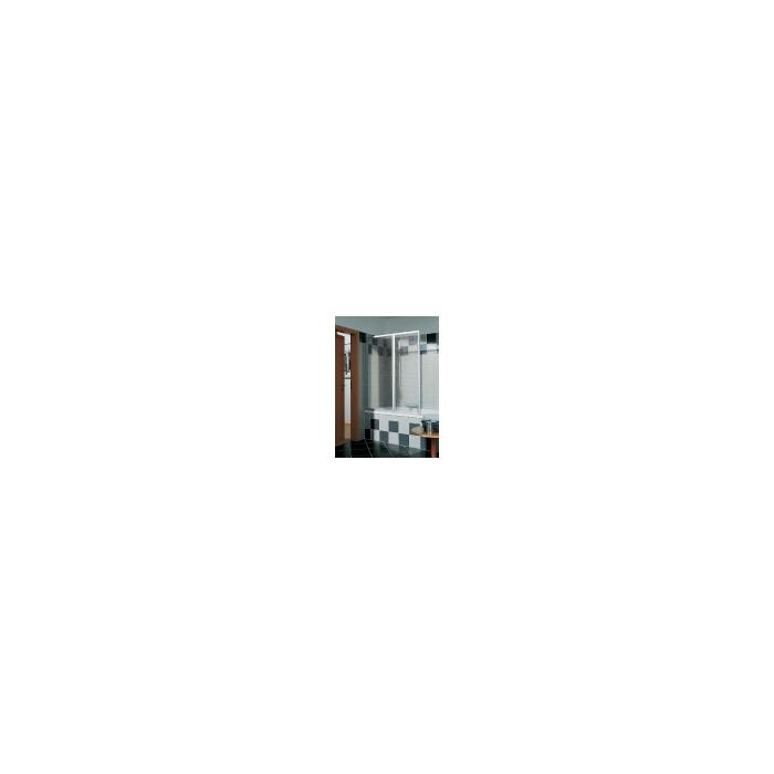Kermi Vario badklapwand 2-delig 115 cm. kunst. parel Wit Ral 9016