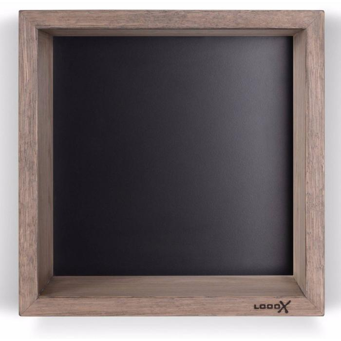 Looox Wooden Collection wand box met achterplaat mat zwart eiken/mat zwart