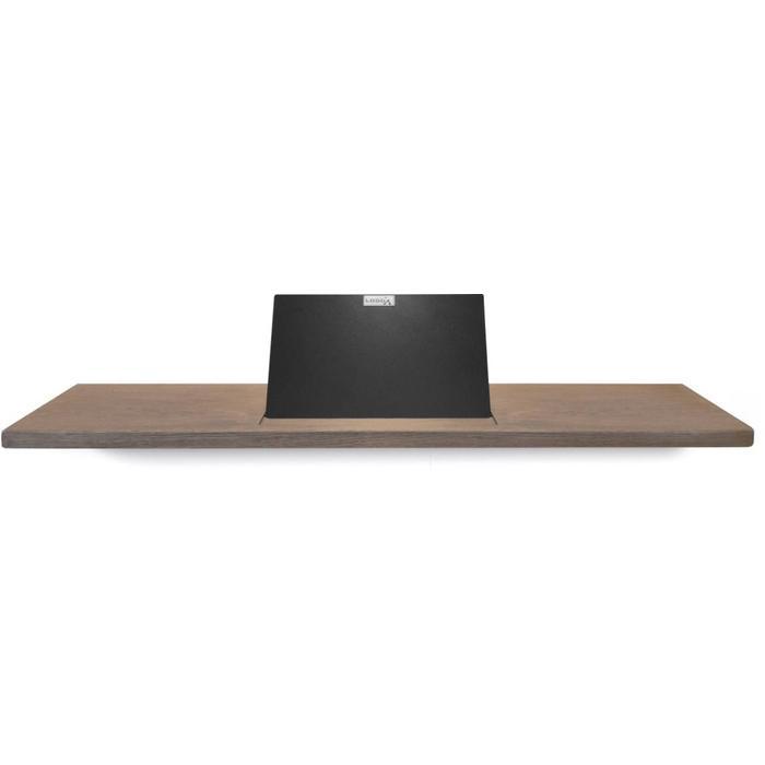 Looox Wooden Collection bath shelf met houder mat zwart eiken/mat zwart