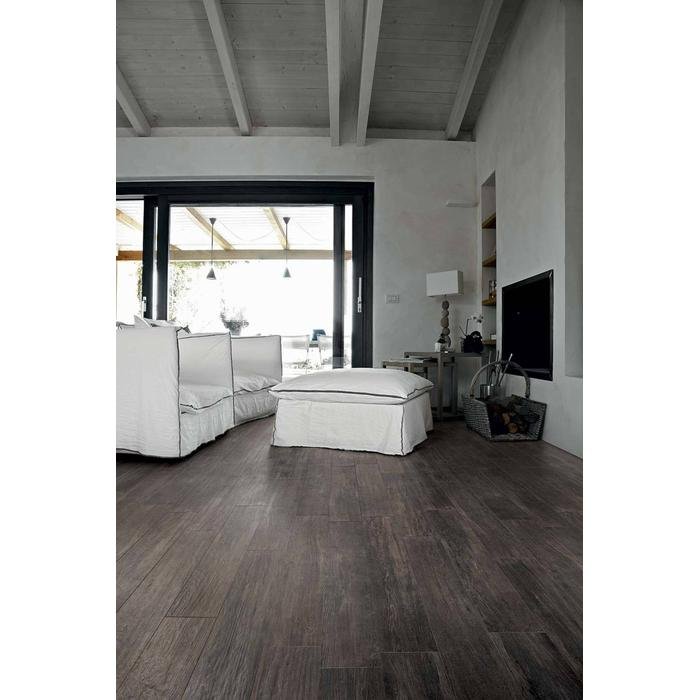 Vloertegel CTC Wooden Tile Collection 26,5x180x1 cm Black 1,44M2