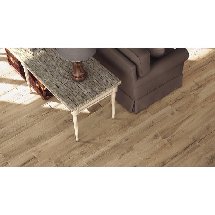 Vloertegel Castelvetro Woodland 20x120x1 cm Creme 1,44M2