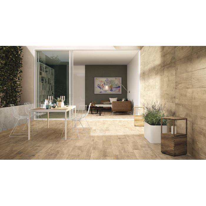 Vloertegel Castelvetro Woodland 30x120x1 cm Lichtgrijs 1,44M2