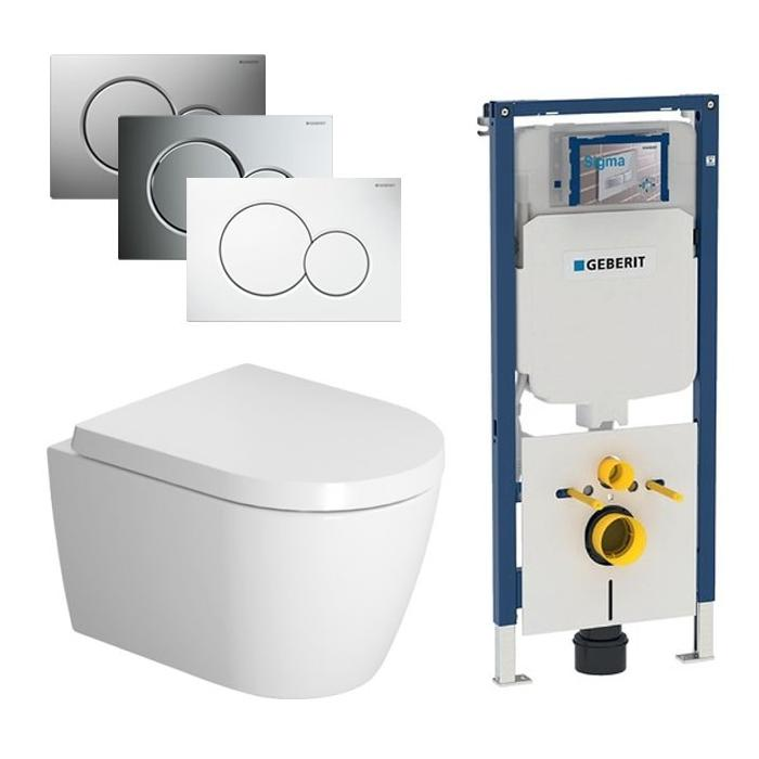 Duravit ME by Starck Compact Rimless / Geberit UP720 set