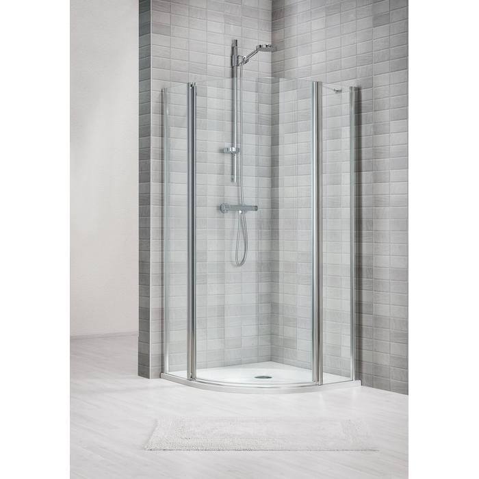 Sealskin Duka 1400 Douchecabine kwartrond Helder Glas 80x195 cm Zilverhoogglans